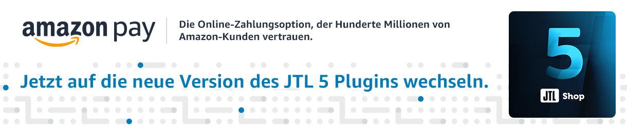 amazon pay - Jetzt auf die neue Version des JTL-Shop 5...