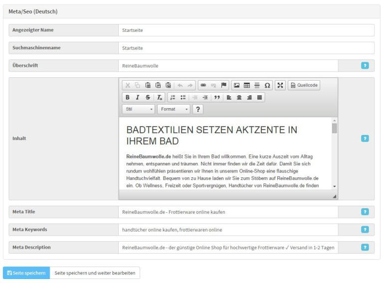 Jtl Shop Backend Metadaten Cms Blog