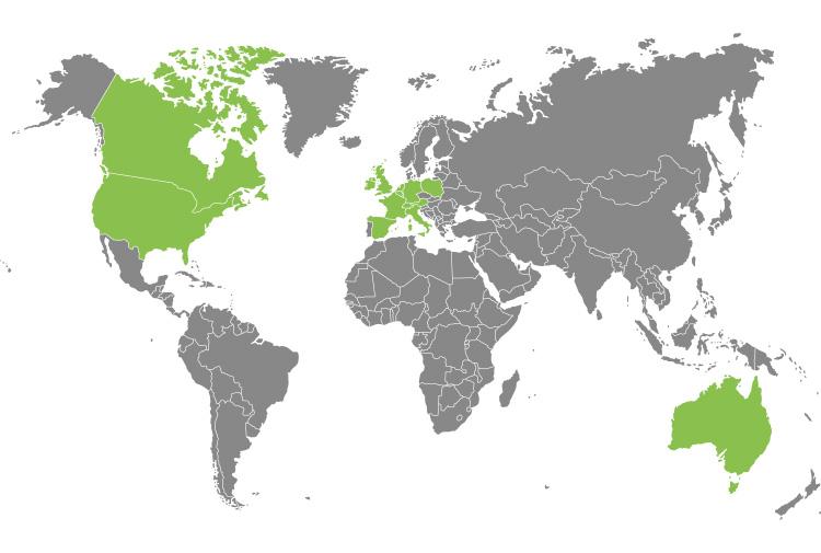 Standorte von eBay weltweit