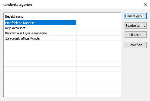 Kundenkategorien in JTL-Wawi