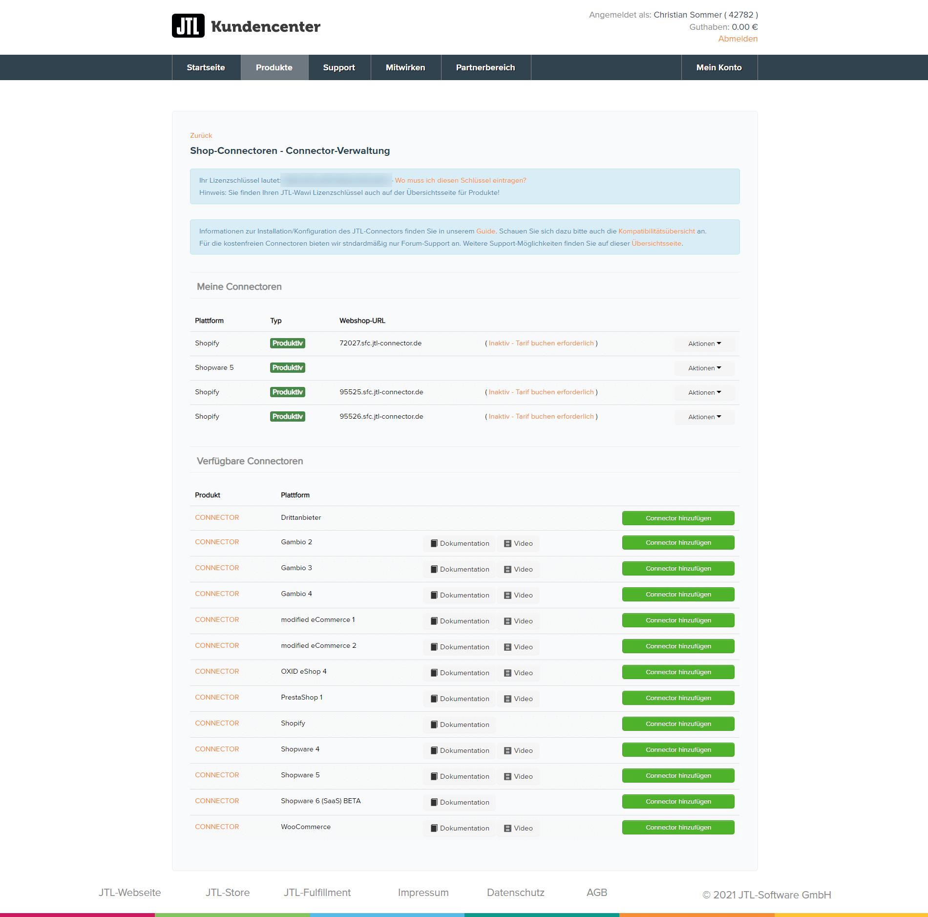 JTL-Connector im Kundencenter herunterladen