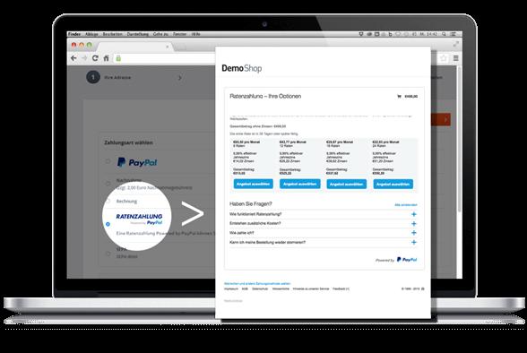 Ratenzahlung PayPal JTL Technologiepartner