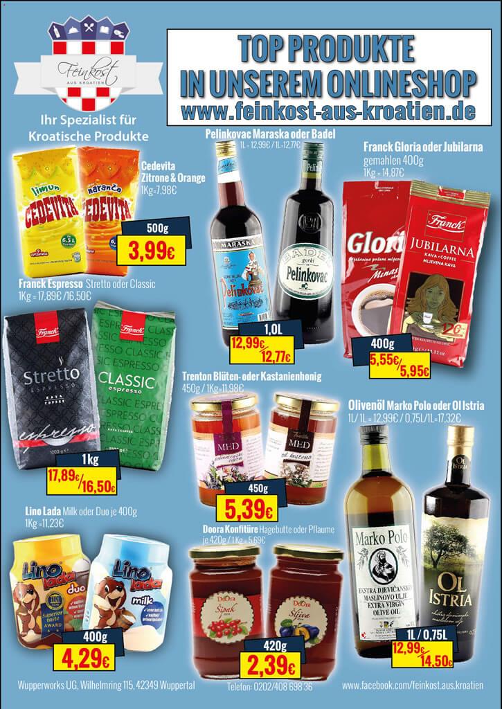 Top-Angebotsprodukte Kroatische Feinkost