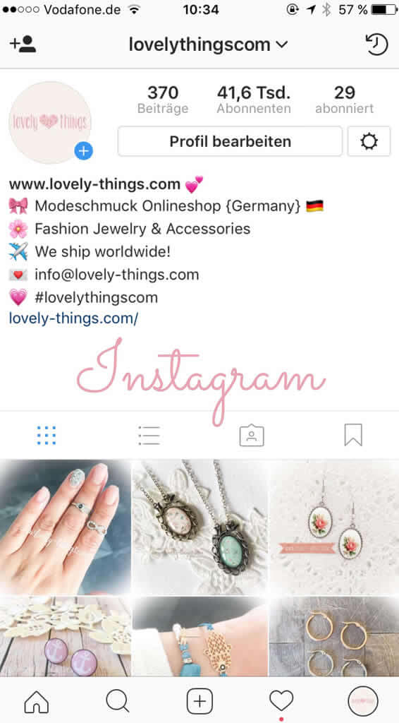 Lovely Things auf Instagram