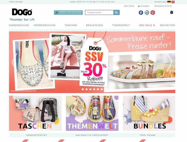 JTL-Shop Startseite DoGo-Shoes