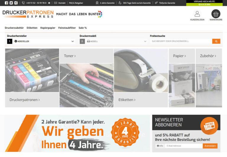 JTL-Shop Startseite Druckerpatronenexpress