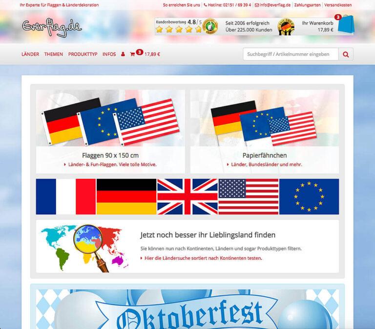 JTL-Shop Startseite Everflag