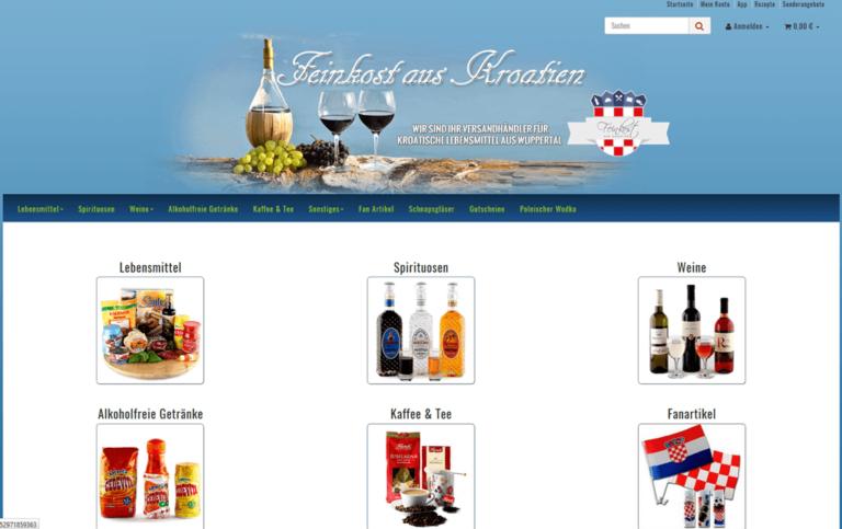 JTL-Shop Startseite Feinkost-aus-Kroatien