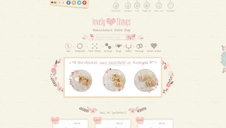 JTL-Shop Startseite Lovely Things