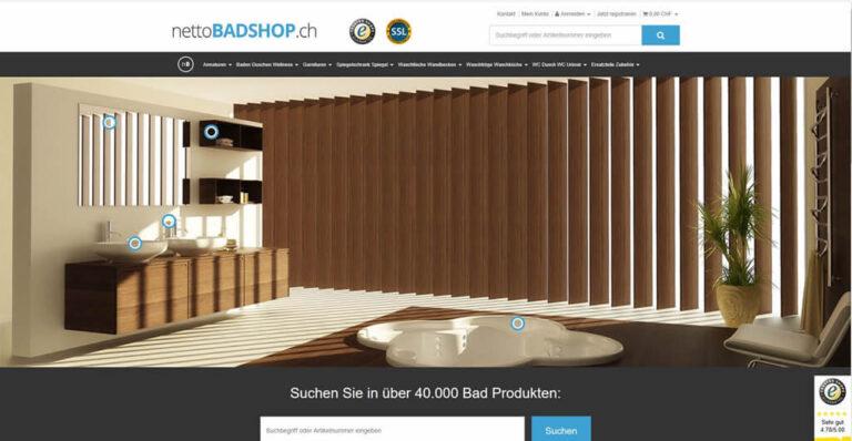 JTL-Shop Startseite Nettobadshop