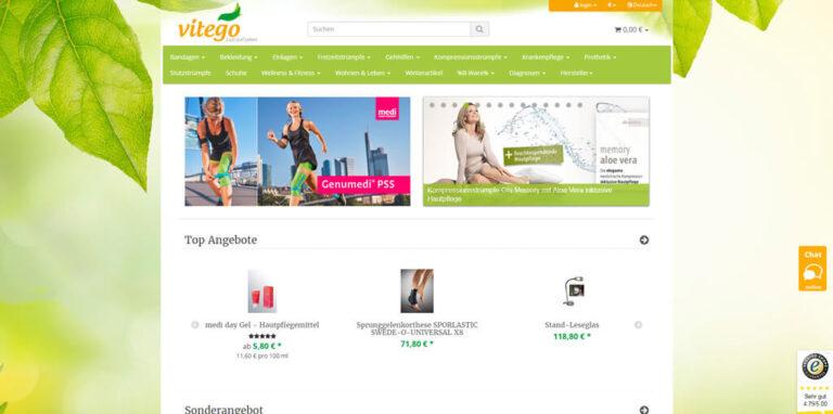 JTL-Shop Startseite Vitego