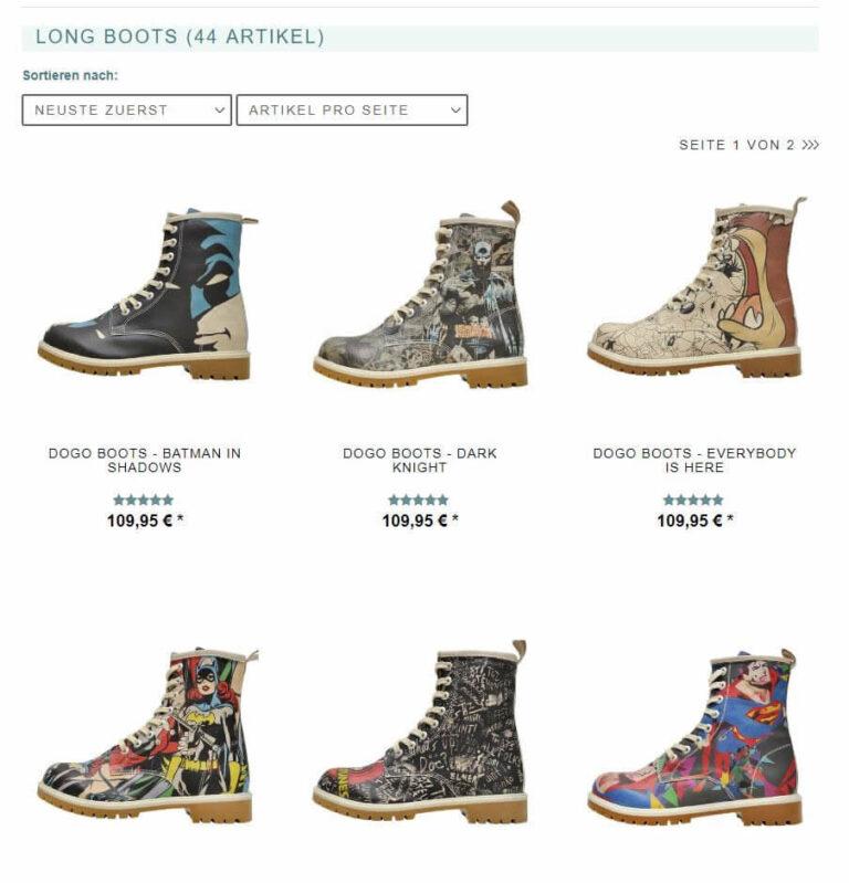 DoGo-Shoes Kategorie