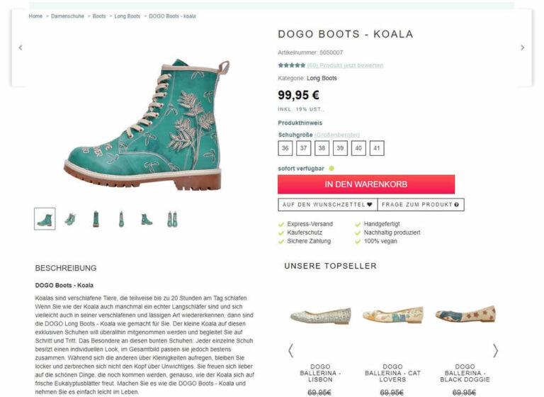 Ansicht Produktdetail DoGo-Shoes