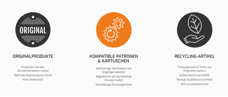 Produktportfolio Druckerpatronenexpress