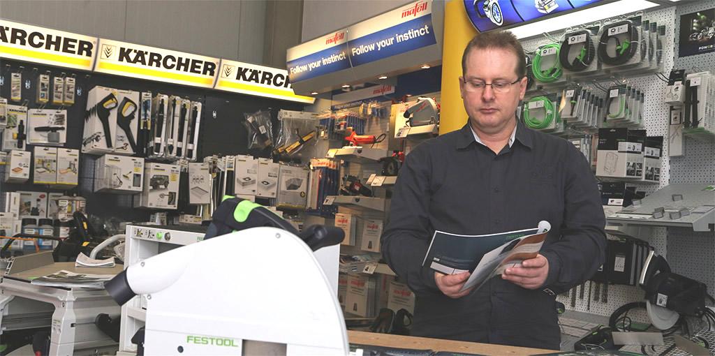 Ladengeschäft von AW Tools in Brandenburg