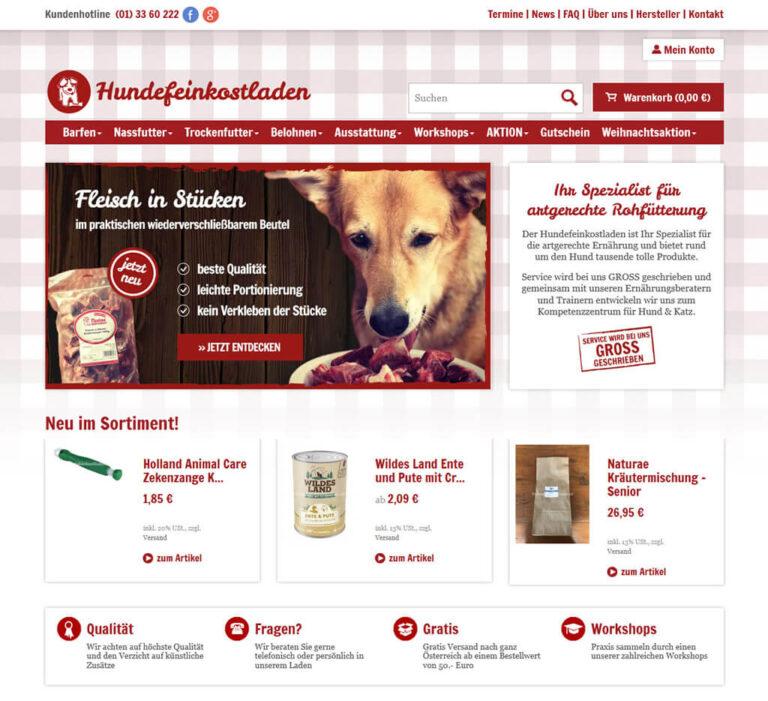 Hundefeinkostladen Startseite JTL-Shop