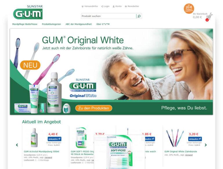 JTL-Shop Startseite GUM-Shop