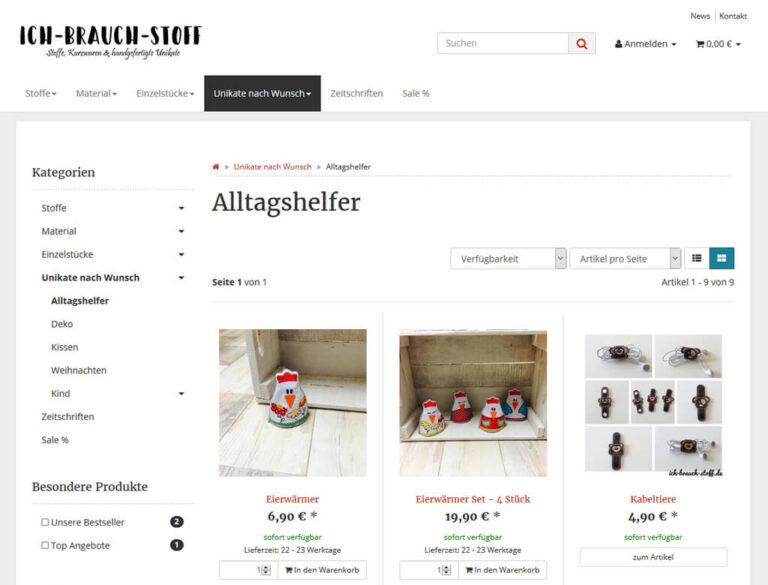 JTL-Shop Kategorie Ich-brauch-Stoff.de