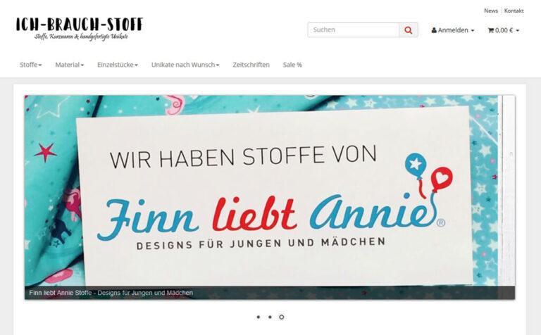 JTL-Shop Startseite Ich brauch Stoff.de