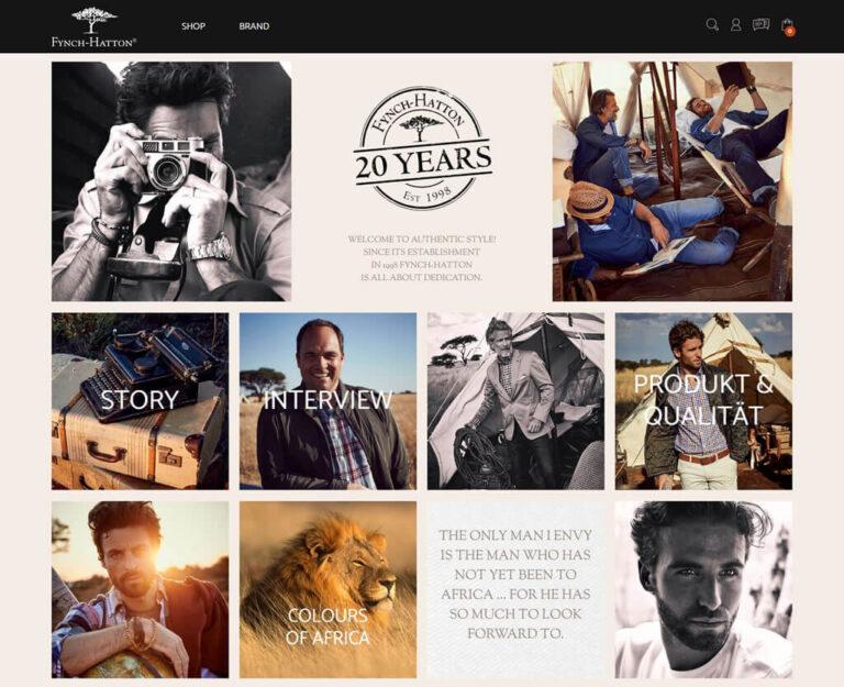 Branding-Seite bei Fynch-Hatton