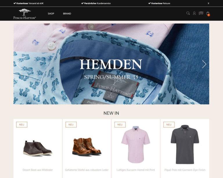 JTL-Shop Startseite Fynch-Hatton