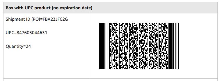 2D-Barcode für Amazon ohne MHD