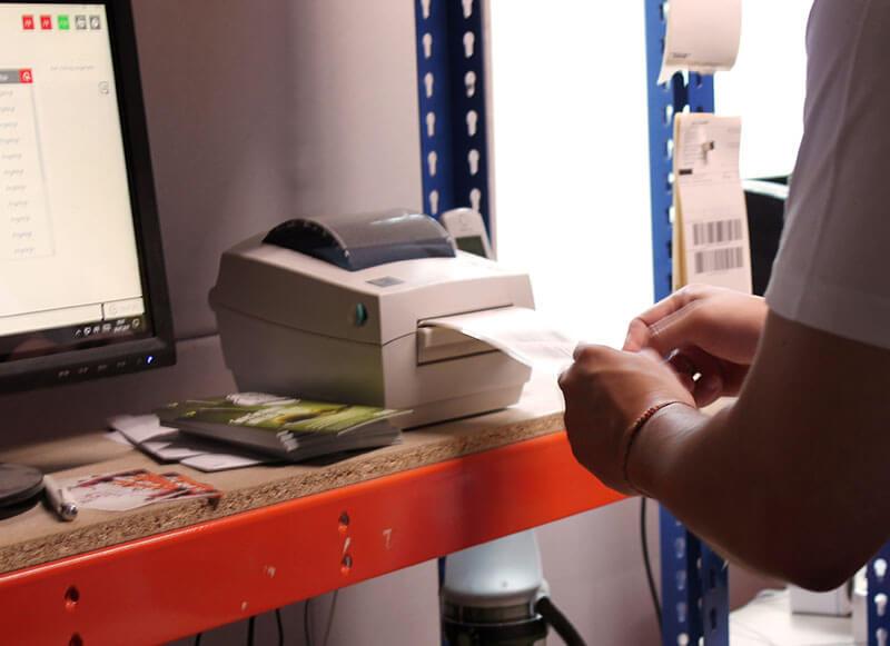 Barcodes für den Versand an FBA-Lager werden gedruckt