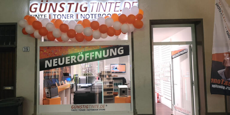 Eröffnung stationärer Store bei Guenstigtinte